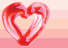 Lip Gloss heart shaped illustration Stock Photography