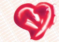 Lip Gloss heart shaped illustration Royalty Free Stock Photo