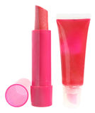 Lip gloss and lipstick Royalty Free Stock Photo