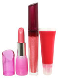 Lip gloss and lipstick Stock Photography