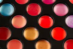 Lip gloss palette Stock Photography