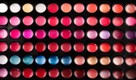 Lip gloss palette Royalty Free Stock Image