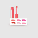 Lip gloss palette. Vector pink Royalty Free Stock Image