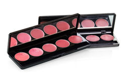 Lip gloss sets closeup  on white. Lip gloss sets closeup  on white background Royalty Free Stock Photos