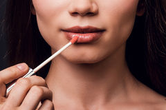 Lip gloss for shiny style. Stock Images