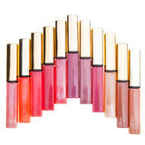 Lip gloss tubes Royalty Free Stock Photos