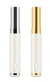 Lip gloss. Vector. Transparent shiny lip gloss on white. Two bottles with silver and golden tops. Vector illustration vector illustration