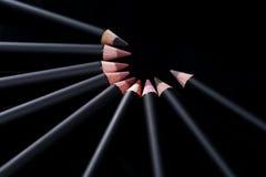 Lip Liner Pencils on Black Background Stock Images