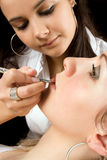 Lip make-up Royalty Free Stock Images