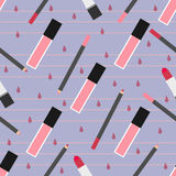 Lip make-up seamless pattern Royalty Free Stock Photo