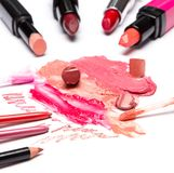 Lip makeup cosmetics Royalty Free Stock Photography