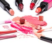 Lip makeup cosmetics Royalty Free Stock Photography