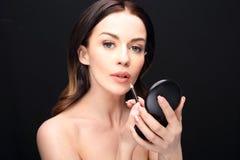 Lip makeup Stock Photo