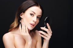 Lip makeup Stock Photography
