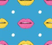 Lip pop art pattern. Stylish modern design. Royalty Free Stock Images