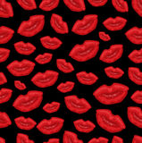Lip seamless background Stock Photography