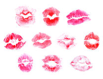 Lip Stain. Solated On White Background, Vector Illustration Stock Photos