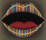 Lip stripes Stock Photos