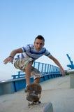 Lip trick on bridge Stock Image