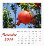 Lipa biurka kalendarza szablonu ulotki 2018 projekt valencia Zdjęcia Royalty Free