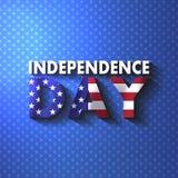 Lipa Fourth dnia niepodległości kaligrafii literowania szczęśliwa karta U Zdjęcie Stock