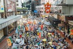 1 Lipa protest w Hong Kong Obraz Royalty Free