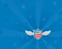 Lipa 4th świętowania Blue Wings Zdjęcie Stock