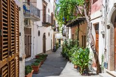 Lipari colorful old town narrow streets royalty free stock images