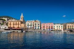 Lipari embankment Royalty Free Stock Image