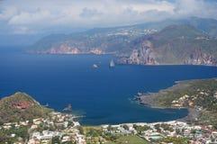 Lipari, Eolowe wyspy, Włochy Zdjęcia Stock