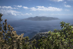 Lipari from Fossa delle Felci Royalty Free Stock Photos
