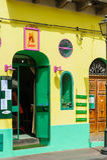 Lipari gata, Sicilien, Italien Arkivfoton