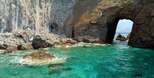 Lipari Island. Volcanic Lipari Island Coast in Mediterranean Sea - Italy Stock Image