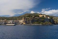 Lipari Island. The largest of Aeolian Islands of the Norhtern coast of Sicily, Italy Royalty Free Stock Photography