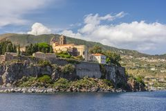 Lipari Island. The largest of Aeolian Islands of the Norhtern coast of Sicily, Italy Stock Photo