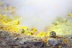 Lipari Islands active volcano. An image of the active volcano islands at Lipari Italy Stock Photography