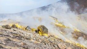 Lipari Islands active volcano Stock Photo