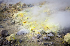 Lipari Islands active volcano Royalty Free Stock Photography
