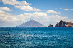 Lipari Islands. An image of the active volcano islands at Lipari Italy Royalty Free Stock Photo