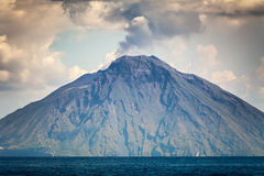 Lipari Islands. An image of the active volcano islands at Lipari Italy Stock Photo