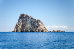 Lipari Islands. An image of the active volcano islands at Lipari Italy Stock Images