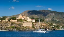 Lipari old town Stock Image