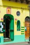 Lipari street, Sicily, Italy. Stock Photos