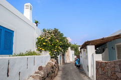 Lipari street Stock Photo