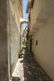 Lipari town on the island of Lipari, Sicily Royalty Free Stock Images