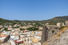 Lipari town on the island of Lipari, Sicily Stock Photography