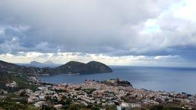 Lipari view. Lipari Island view in Eolian islands Royalty Free Stock Photography