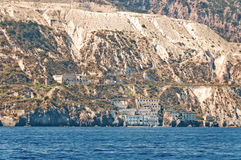 Lipari, view from the sea. Royalty Free Stock Images