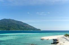 Lipe Island, beautiful sea and white sand beach in Thailand Stock Image
