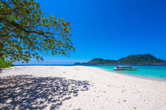 Lipe island  with speed boat float on blue sea Stock Photography